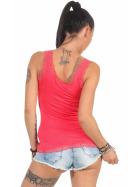 StyleLightOne Damen Dünnes Tank-Top Spitze Stretch, Apricot 40 42