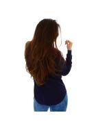 StyleLightOne Damener Vokuhila-Pullover Stretch, Blau