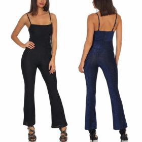 StyleLightOne Damen Glitzer-Overall Jumpsuit Onesie...