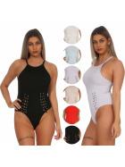 StyleLightOne Damen Body Schnürung Stretch Ripp (32-38)