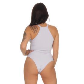 StyleLightOne Damen Sexy Body Schnürung Erotik Stretch Ripp, Lavendel, 32 34 (S)