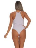 StyleLightOne Damen Sexy Body Schnürung Erotik Stretch Ripp, Lavendel, 36 38 (L)