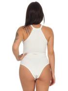 StyleLightOne Damen Sexy Body Schnürung Erotik Stretch Ripp, Weiß, 32 34 (S)