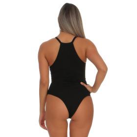 StyleLightOne Damen Sexy Body Schnürung Erotik Stretch Ripp, Schwarz, 36 38 (L)