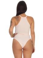 StyleLightOne Damen Sexy Body Schnürung Erotik Stretch Ripp, Rosa, 32 34 (S)
