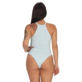 StyleLightOne Damen Sexy Body Schnürung Erotik Stretch Ripp, Hellblau, 34 36 (M)