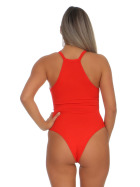 StyleLightOne Damen Sexy Body Schnürung Erotik Stretch Ripp, Rot, 32 34 (S)