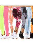 Jela London Damen Fitness Leggings High-Waist Push-Up Bunt