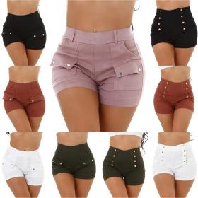 Jela London Damen Hotpants High-Waist Stretch kurze...