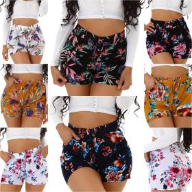 Jela London Damen Sommer Shorts Blumen Hotpants...