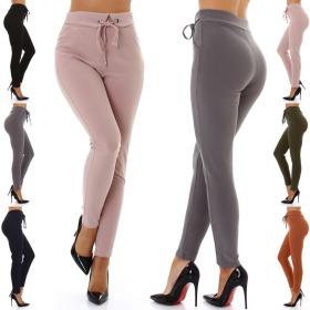 Jela London Damen High-Waist Stretch-Hose Taillenhose...