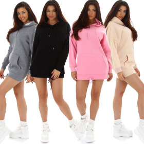 Jela London Damen Hoodie Oversize Pullover Kapuze...
