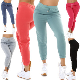Jela London Damen Jogginghose Relaxed Skinny Stretch