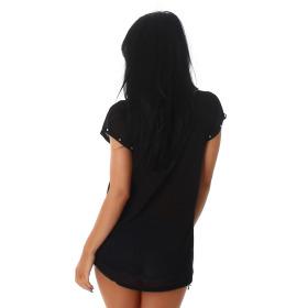 Jela London Damen Shirt Chiffon Top dünn transparent...