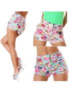 Parisian Damen hippe Stretchy Sommer Shorts high-waist (Gr. 32-42)