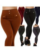 Jela London Damen High-Waist Leggings Thermo Fitness Love Feinripp 34-38