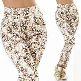 Jela London Damen High-Waist Jogginghose Glitzer Leopard...