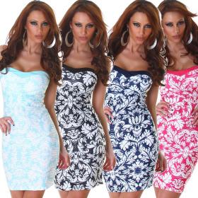 Jela London Damen Bandeau-Kleid Minikleid Geblümt...