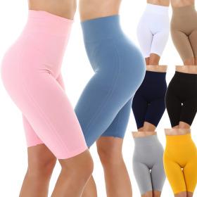 Jela London Damen High-Waist Shorts Slimming Radlerhose...