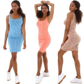 Jela London Damen Träger-Kleid Etuikleid...