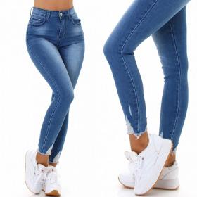 Jela London Damen High-Waist Jeans-Hose Stretch Skinny...
