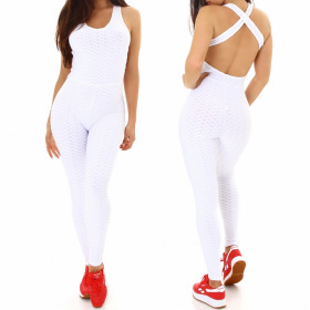 Jela London Damen High-Waist Fitness Einteiler Latzhose Freizeit Yoga Gymastik